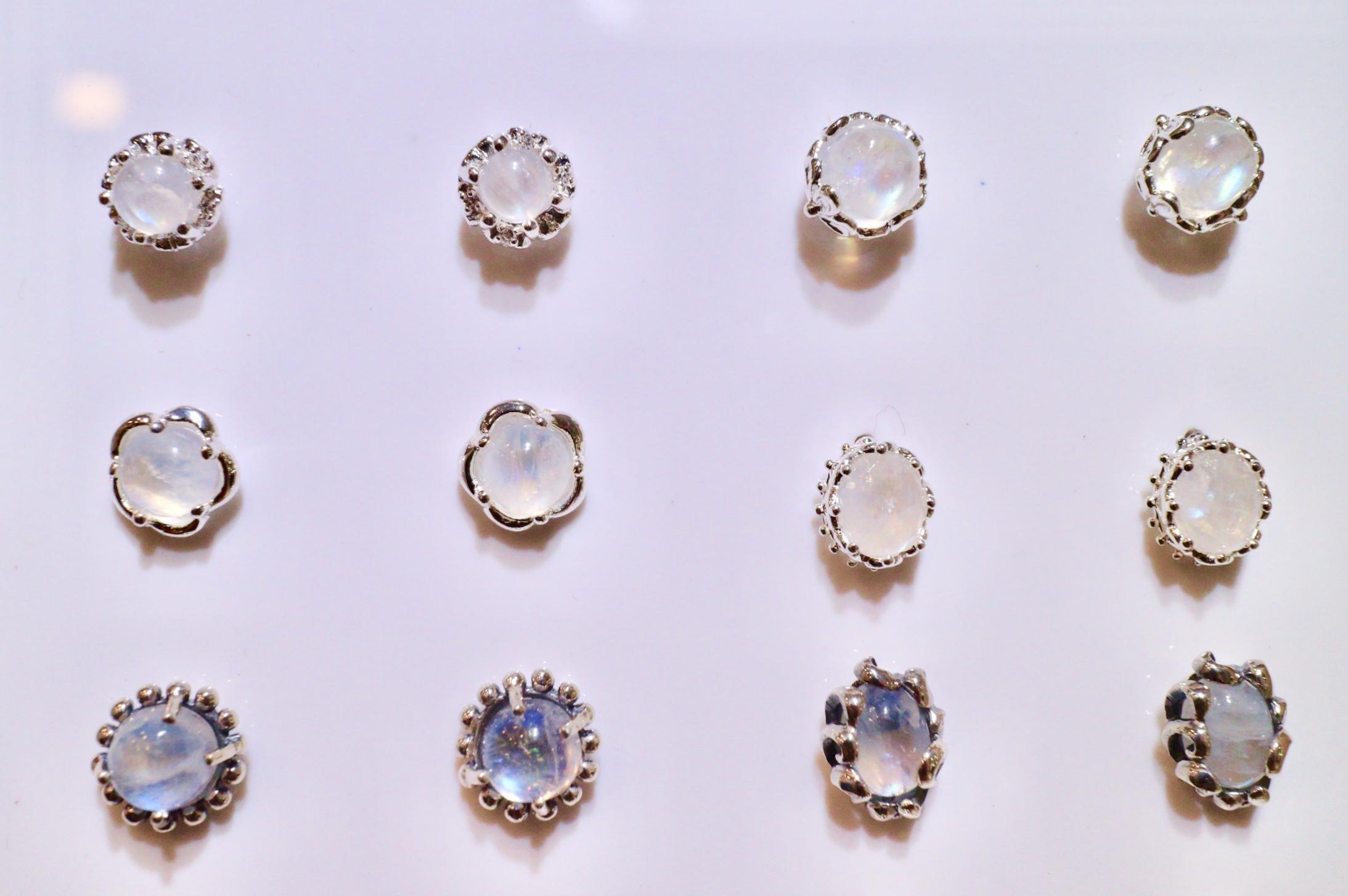 月光石耳環