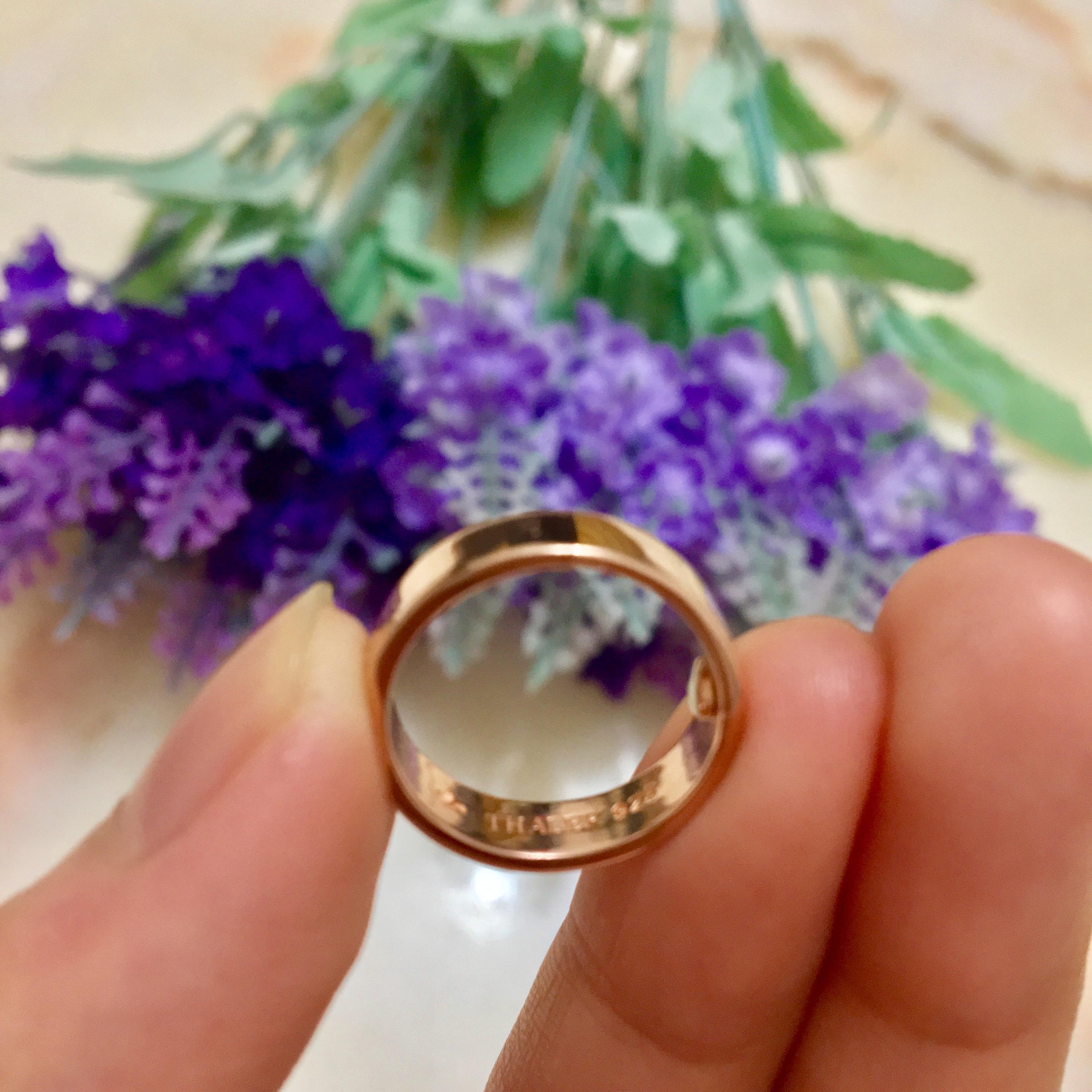 8心8箭玫瑰金戒指