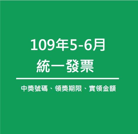 109年5、6月統一發票